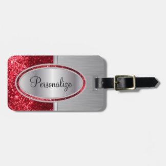 Brillo Etiqueta-Rojo del equipaje y acero del Etiquetas Para Maletas