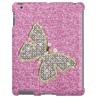 Brillo femenino con la mariposa funda para iPad