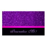 Brillo femenino de moda púrpura moderno contemporá tarjeta de negocio