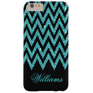 Brillo fresco del azul de pavo real del zigzag del funda barely there iPhone 6 plus