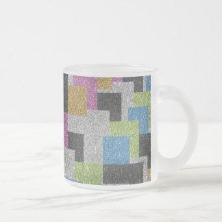 Brillo fresco del brillo del arte abstracto de las taza de cristal