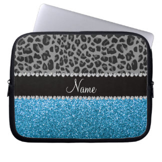 Brillo gris conocido personalizado del azul de cie mangas computadora