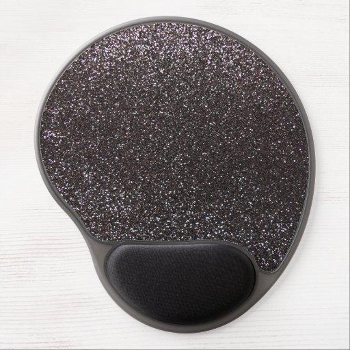 Brillo gris oscuro alfombrilla de ratón con gel