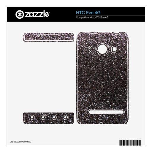 Brillo gris oscuro HTC evo 4G skin