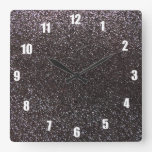 Brillo gris oscuro reloj