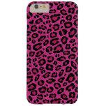Brillo hermoso del brillo de la piel del leopardo funda de iPhone 6 plus barely there
