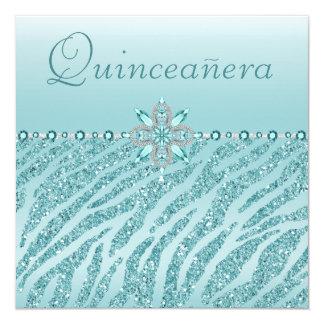 Brillo impreso Quinceanera de las joyas y de la Invitación 13,3 Cm X 13,3cm