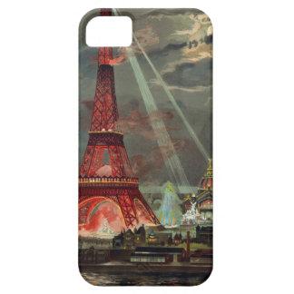 Brillo ligero de la torre Eiffel iPhone 5 Fundas