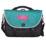 Brillo lindo de la turquesa del oso el dormir del  bolsas para portátil