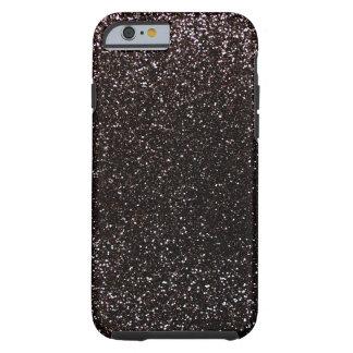 Brillo negro funda resistente iPhone 6