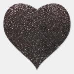 Brillo negro pegatina de corazón personalizadas