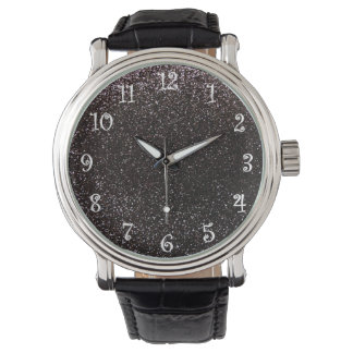 Brillo negro relojes