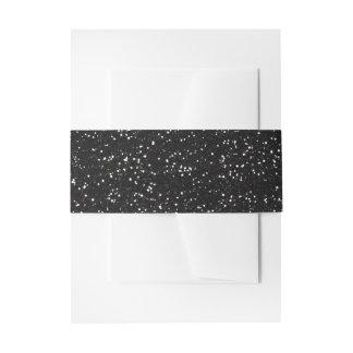Brillo negro y de plata brillante cintas para invitaciones