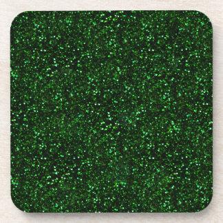 Brillo oscuro del verde esmeralda posavasos de bebidas