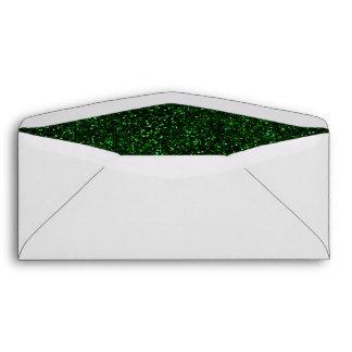 Brillo oscuro del verde esmeralda sobres