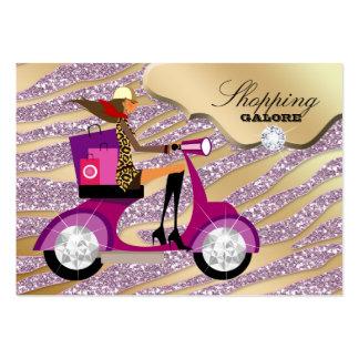 Brillo personal del rosa del oro de la joyería del tarjeta de negocio