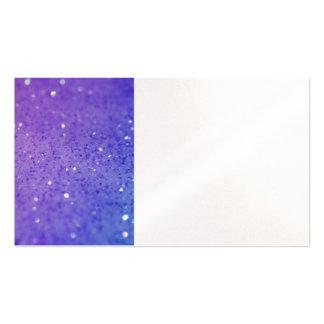 Brillo púrpura brillante - brillante, chispas tarjetas de visita