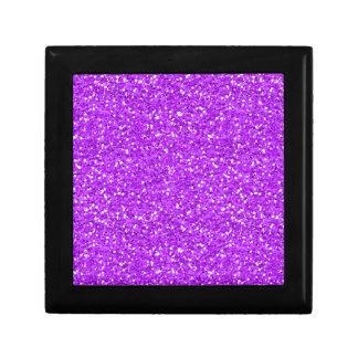 Brillo púrpura brillante del reflejo cajas de regalo