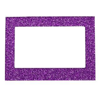Brillo púrpura colorido del aniversario de boda foto de imanes