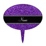 Brillo púrpura conocido personalizado palillos de tarta