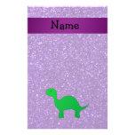 Brillo púrpura conocido personalizado de Dino Papeleria De Diseño