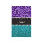 Brillo púrpura conocido personalizado de la turque cuadernos grapados