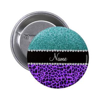 Brillo púrpura conocido personalizado de la turque pins