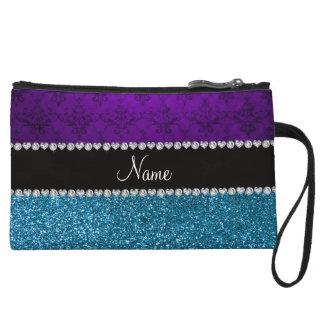 Brillo púrpura conocido personalizado del azul de