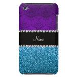 Brillo púrpura conocido personalizado del azul de iPod touch protectores