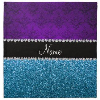 Brillo púrpura conocido personalizado del azul de servilletas