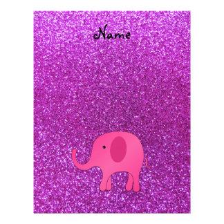 Brillo púrpura conocido personalizado del elefante flyer personalizado