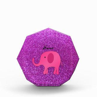 Brillo púrpura conocido personalizado del elefante
