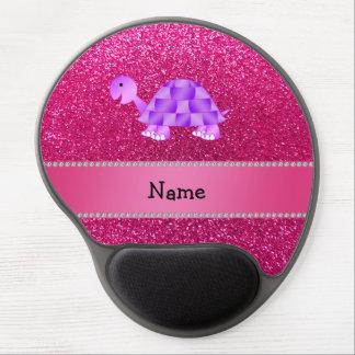 Brillo púrpura conocido personalizado del rosa de  alfombrilla gel