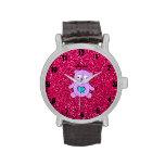 Brillo púrpura conocido personalizado del rosa de  relojes de mano