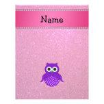 Brillo púrpura conocido personalizado del rosa del tarjetas informativas