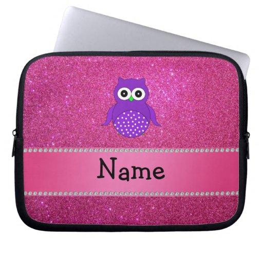 Brillo púrpura conocido personalizado del rosa del mangas computadora