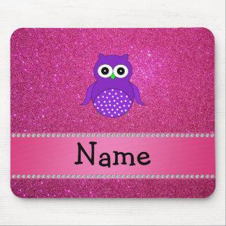 Brillo púrpura conocido personalizado del rosa del tapete de ratones