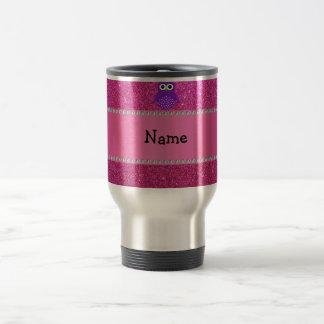 Brillo púrpura conocido personalizado del rosa del taza