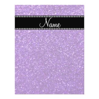 Brillo púrpura conocido personalizado tarjetones