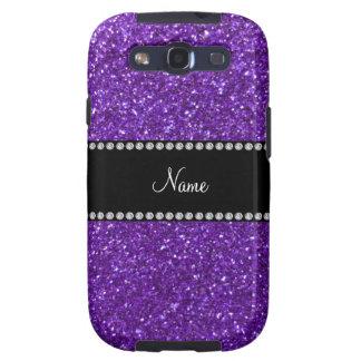 Brillo púrpura conocido personalizado galaxy s3 protector