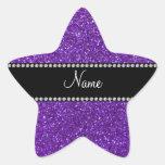 Brillo púrpura conocido personalizado colcomanias forma de estrellaes personalizadas