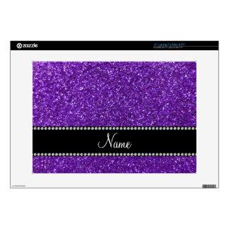 Brillo púrpura conocido personalizado skins para 38,1cm portátiles