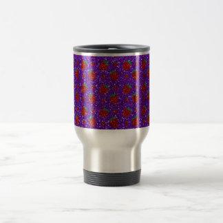 Brillo púrpura de la fresa del añil taza de viaje de acero inoxidable
