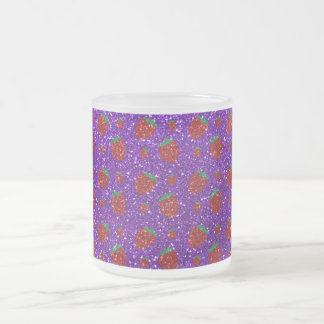 Brillo púrpura de la fresa del añil taza cristal mate