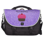 Brillo púrpura de la magdalena rosada del brillo bolsas de ordenador