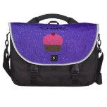 Brillo púrpura de la magdalena rosada del brillo bolsas para portátil