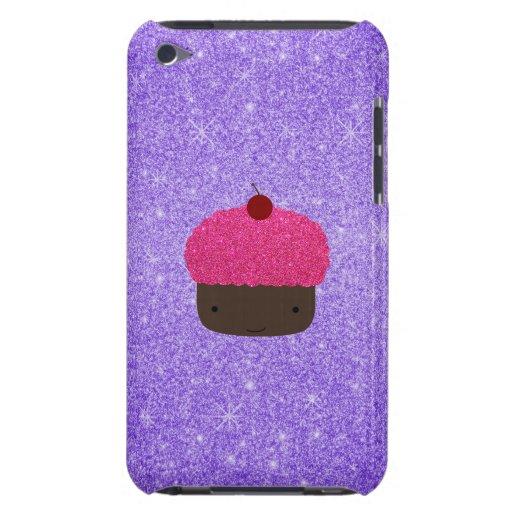 Brillo púrpura de la magdalena rosada del brillo Case-Mate iPod touch cárcasa