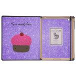 Brillo púrpura de la magdalena rosada del brillo iPad cobertura