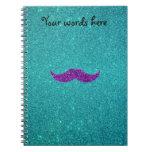 Brillo púrpura de la turquesa del bigote del brill libreta espiral