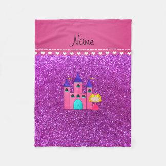 Brillo púrpura de neón del castillo conocido de manta de forro polar